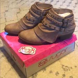 Brand New Sugar Tan Booties Women's Size 9